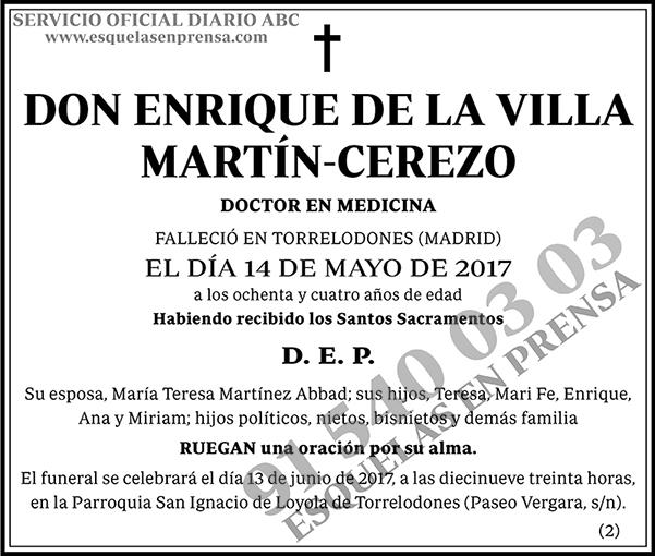 Enrique de la Villa Martín-Cerezo